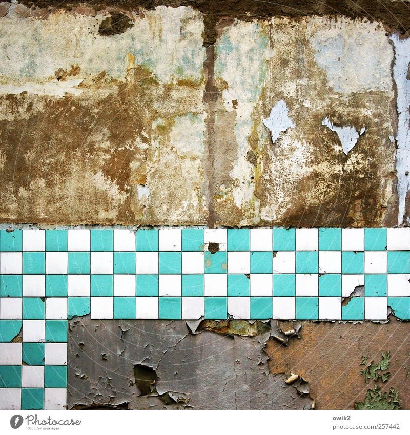 Old Blue White City Wall (building) Wall (barrier) Dirty Crazy Broken Change Transience Derelict Creepy Tile Past Turquoise