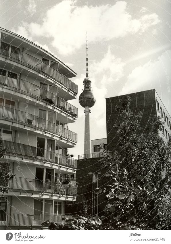 House (Residential Structure) Berlin Architecture Tower Balcony Berlin TV Tower Alexanderplatz