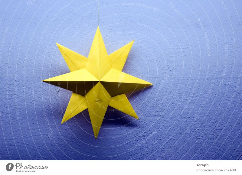 Star Star (Symbol) Structures and shapes Paper Yellow Surface Product Material Outline Illustration Striking surface Christmas & Advent handmade