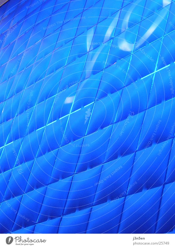 blue texture Wall (building) Structures and shapes Light CeBIT Architecture Blue o2