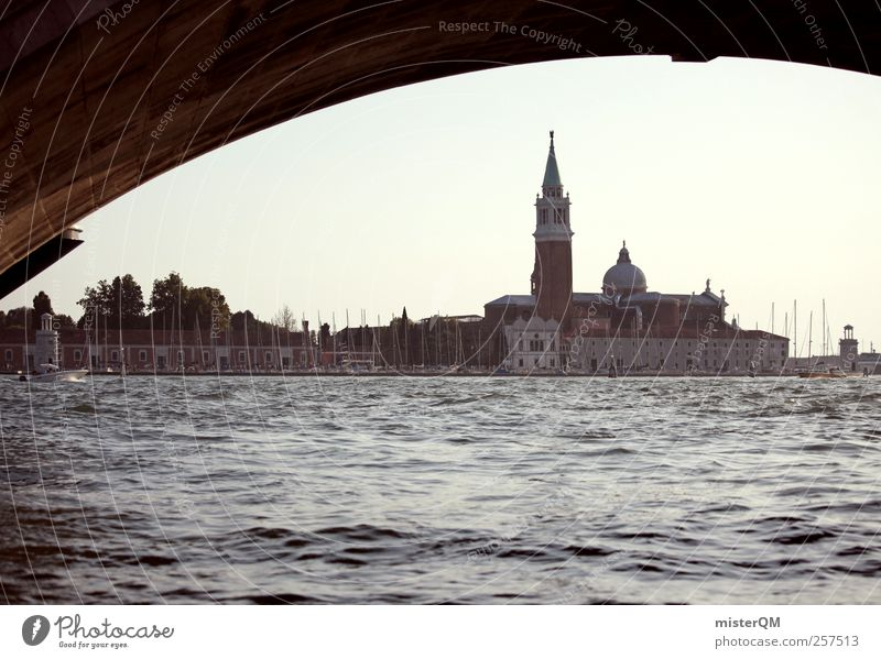 Ocean Art Island Esthetic Tower Romance Travel photography Italy Landmark Tourist Attraction Venice Mediterranean sea Port City City trip Veneto
