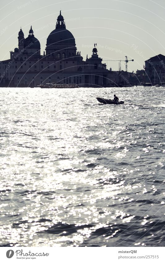 Santa Maria della Salute. Art Work of art Esthetic Venice Veneto Italy Canal Grande Basilica San Marco Romance Vacation & Travel Tourism Vacation photo