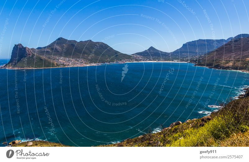 View of Hout Bay South Africa Vacation & Travel Tourism Trip Adventure Far-off places Freedom Ocean Waves Mountain Environment Nature Landscape Water Sky Hill