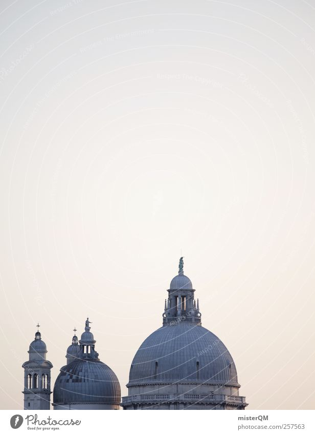 Famous Roofs. Art Esthetic Venice Veneto Partially visible Santa Maria della Salute Famous building Domed roof Decent Old times Luxury Tourist Attraction