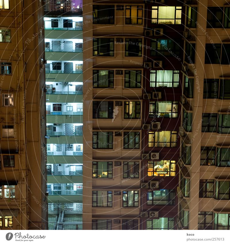 Blue White City Black Loneliness House (Residential Structure) Window Wall (building) Architecture Wall (barrier) Metal Brown Glass Facade Concrete