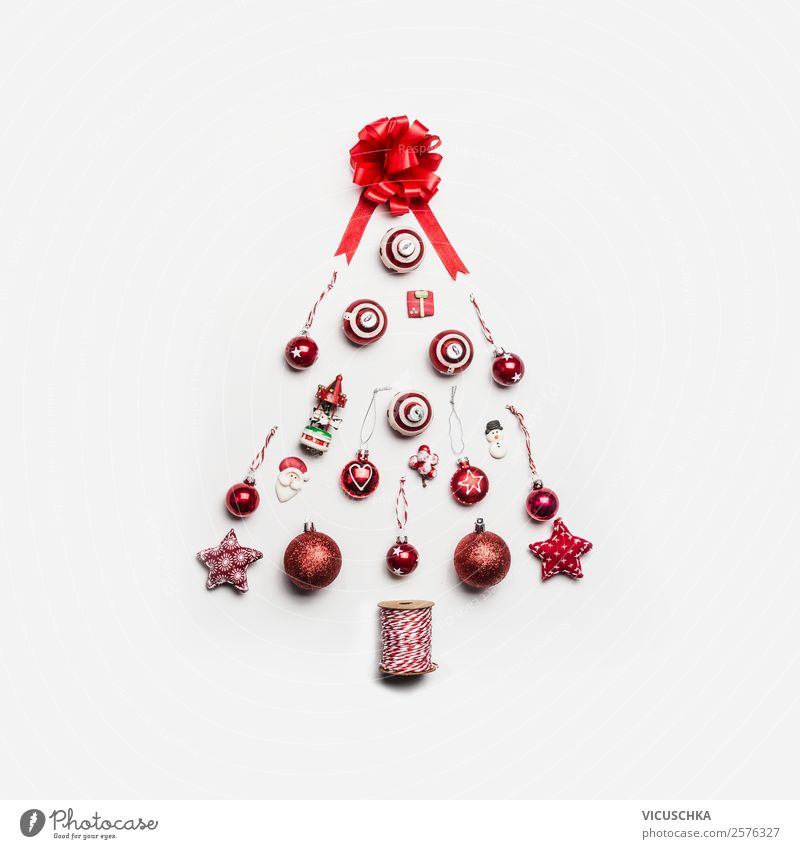 Christmas & Advent Red Joy Style Moody Design Decoration Modern Shopping Symbols and metaphors Tradition Christmas tree Minimalistic Ornament