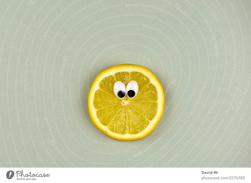 SOUR MAKES FUN Food Fruit Nutrition Organic produce Vegetarian diet Diet Lifestyle Joy Human being Eyes Art Artist Observe Cool (slang) Kitsch Cute Yellow Sour