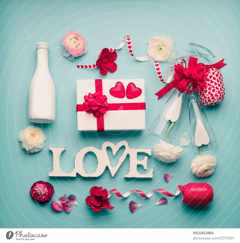 Romantic things with gift and word Love Shopping Style Design Decoration Table Party Event Feasts & Celebrations Valentine's Day Wedding Birthday Ornament