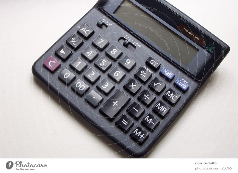 pocket calculators Pocket calculator Computer Macro (Extreme close-up) Office Equipment