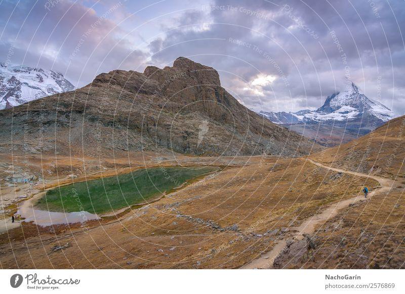 Amazing view of majestic Matterhorn peak in Switzerland Vacation & Travel Tourism Trip Adventure Winter Snow Mountain Hiking Environment Nature Landscape Sky