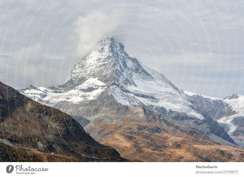 Amazing view of Matterhorn Peak in Switzerland Vacation & Travel Tourism Trip Adventure Expedition Winter Snow Winter vacation Mountain Hiking Environment