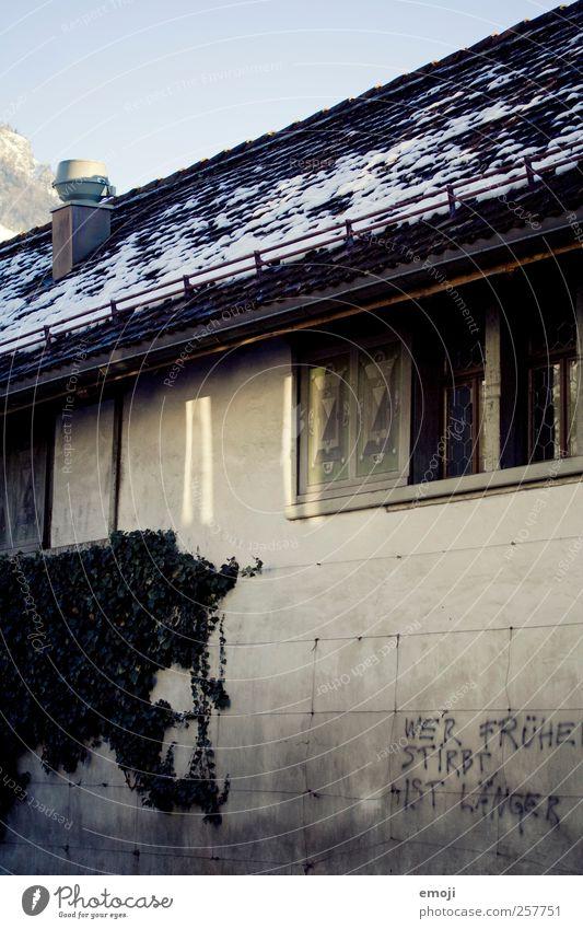 House (Residential Structure) Dark Window Wall (building) Graffiti Gray Building Wall (barrier) Facade Threat Roof Figure of speech