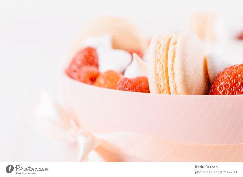 Macaron And Strawberry Birthday Cake - a Royalty Free Stock