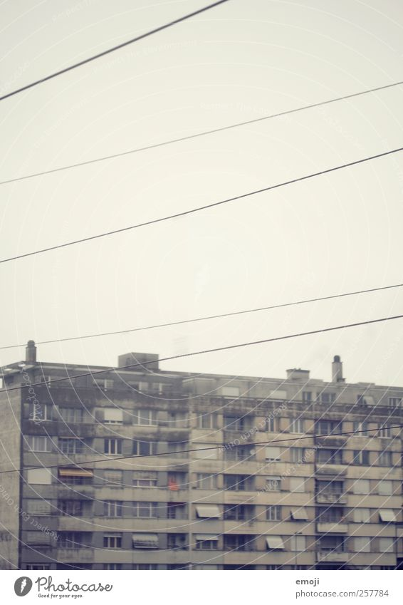 Old Window Wall (building) Gray Building Wall (barrier) Flat (apartment) Dirty Facade Concrete Poverty Gloomy Balcony Outskirts Concrete wall Concrete block