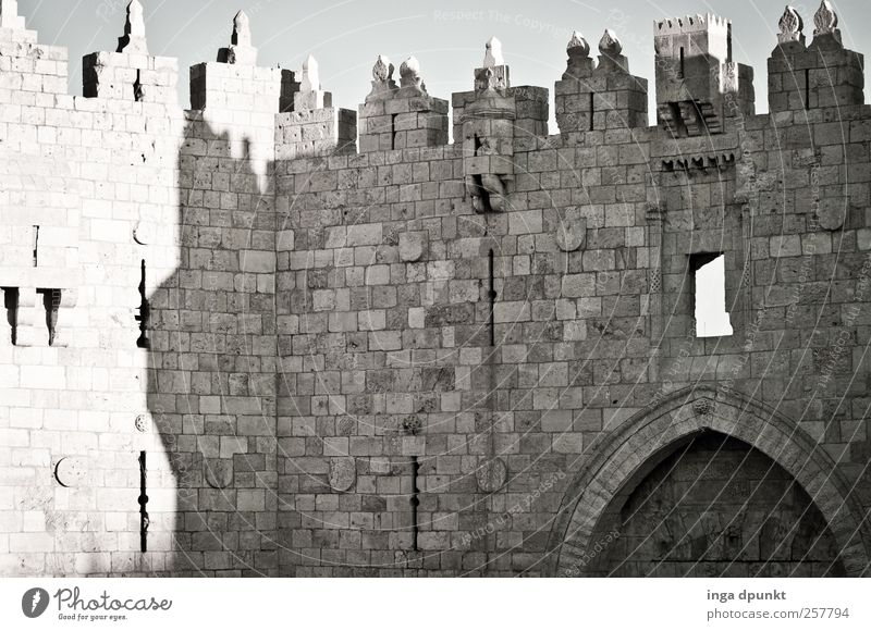 Damascus Gate West Jerusalem Old town Israel Near and Middle East Capital city Deserted Manmade structures Building Architecture Wall (barrier) Wall (building)
