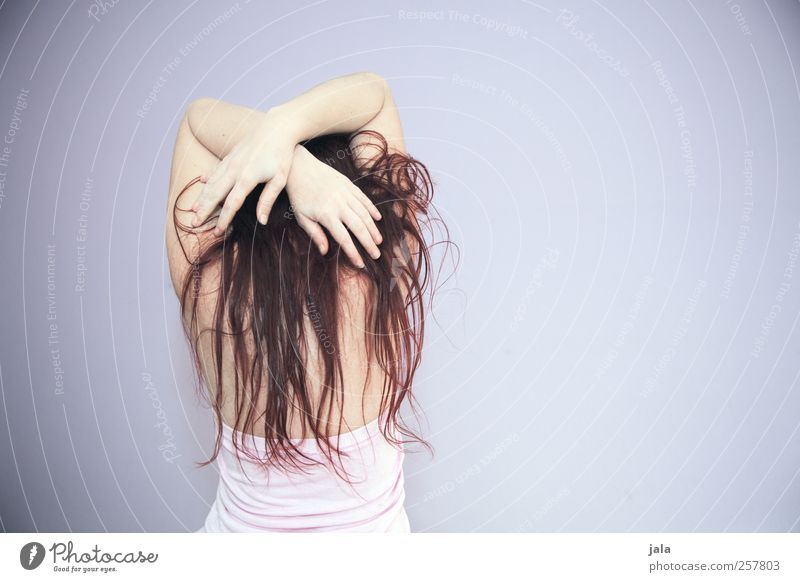 Human being Woman Hand Adults Feminine Hair and hairstyles Back Arm Stand Esthetic Brunette Long-haired Red-haired