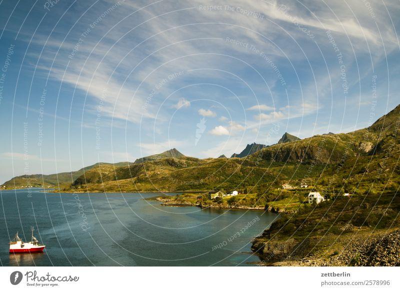 Scandinavian Coast Bay Arctic Ocean Europe Rock Vacation & Travel Fishery Fjord Harbour Sky Heaven Horizon Island Landscape Lofotes Maritime Nature Nordic