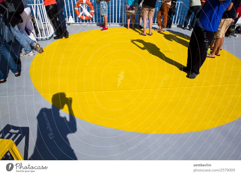 Photo on the sun deck (4700) Ferry Vacation & Travel Fjord Maritime Ocean Nordic Norway Travel photography Watercraft Navigation Skerry Scandinavia Copy Space