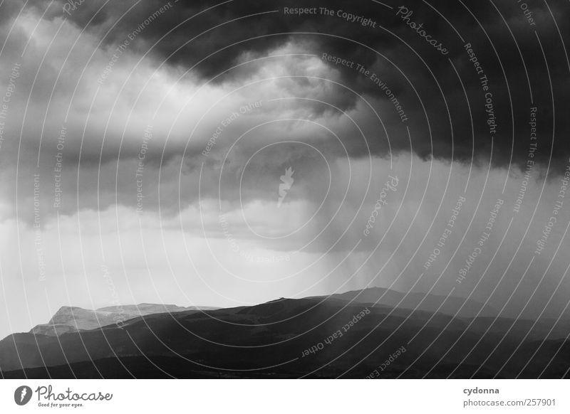 Nature Beautiful Clouds Calm Dark Environment Landscape Mountain Lanes & trails Rain Horizon Time Wind Adventure Esthetic Climate