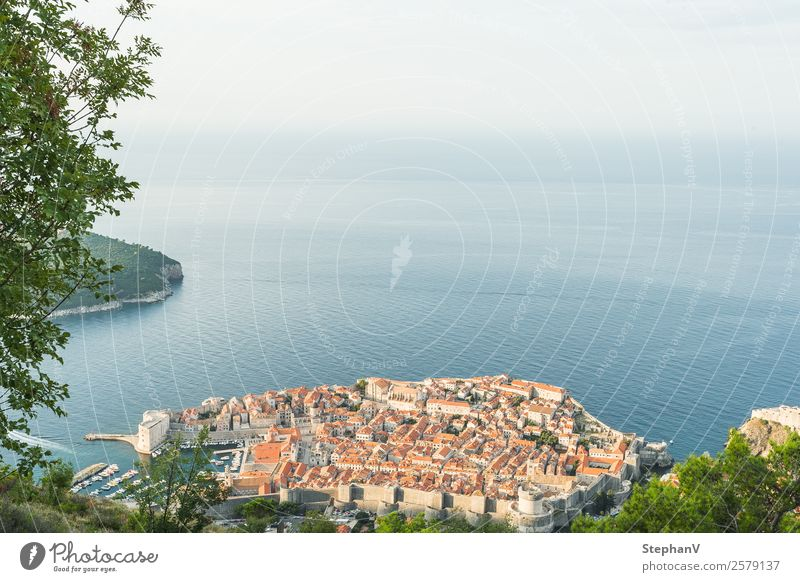 Dubrovnik from above Vacation & Travel Tourism Far-off places Sightseeing City trip Summer Summer vacation Ocean Island Waves Croatia Europe Town Port City