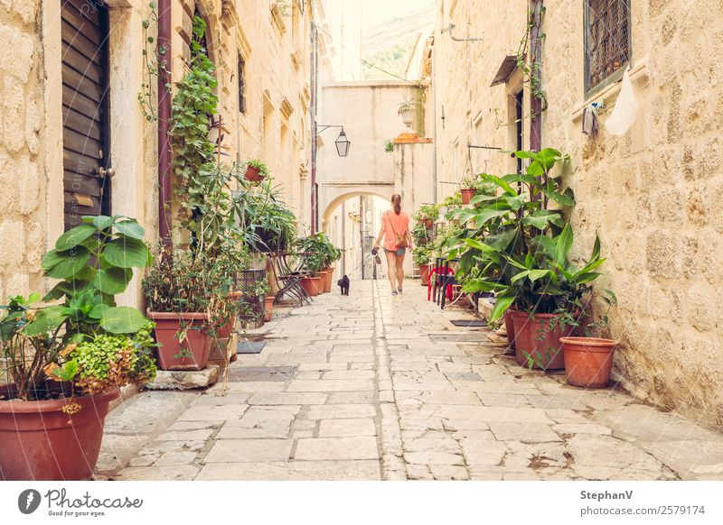 Walk through Dubrovnik Vacation & Travel Sightseeing City trip Summer vacation Feminine Young woman Youth (Young adults) 1 Human being 18 - 30 years Adults