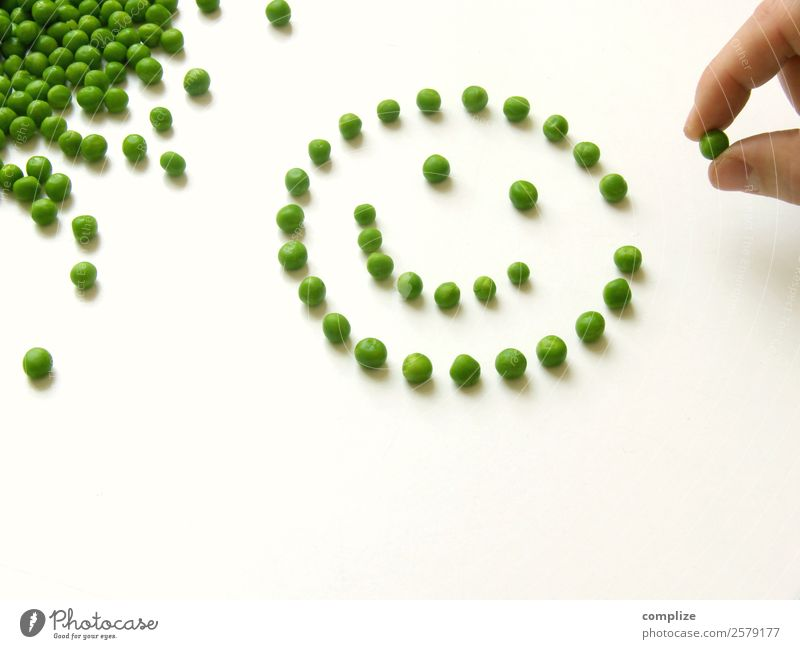 Smily Healthy Diet - Vegetable Peas Food Nutrition Lunch Organic produce Vegetarian diet Face Playing Cook Hand Many Optimism Smiley Things Dish Motive