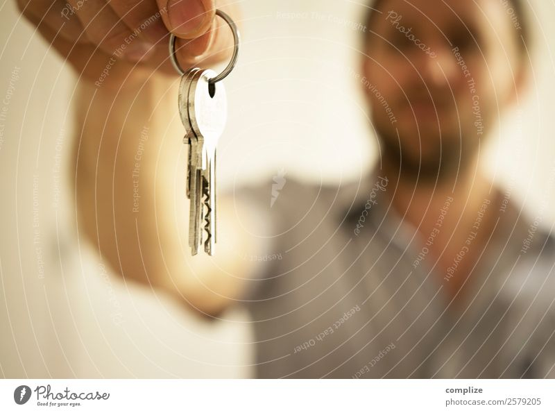 key to the flat Luxury Living or residing Flat (apartment) House (Residential Structure) Dream house House building Moving (to change residence) Arrange