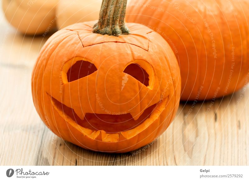Halloween Vegetable Joy Face Decoration Feasts & Celebrations Hallowe'en Autumn Candle Wood Smiling Laughter Creepy Funny Cute Yellow White Fear Horror