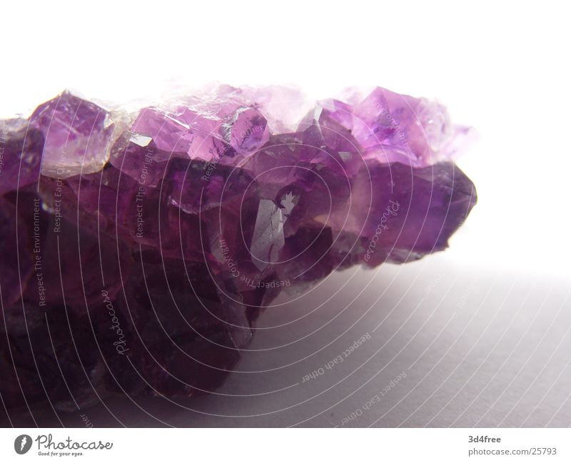 expensive pebble Precious stone Expensive Violet Stone Crystal structure Macro (Extreme close-up)