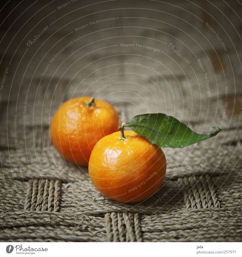 clementine Food Fruit Tangerine Nutrition Vegetarian diet Healthy Delicious Sweet Yellow Vitamin Orange Leaf Colour photo Interior shot Deserted Copy Space top