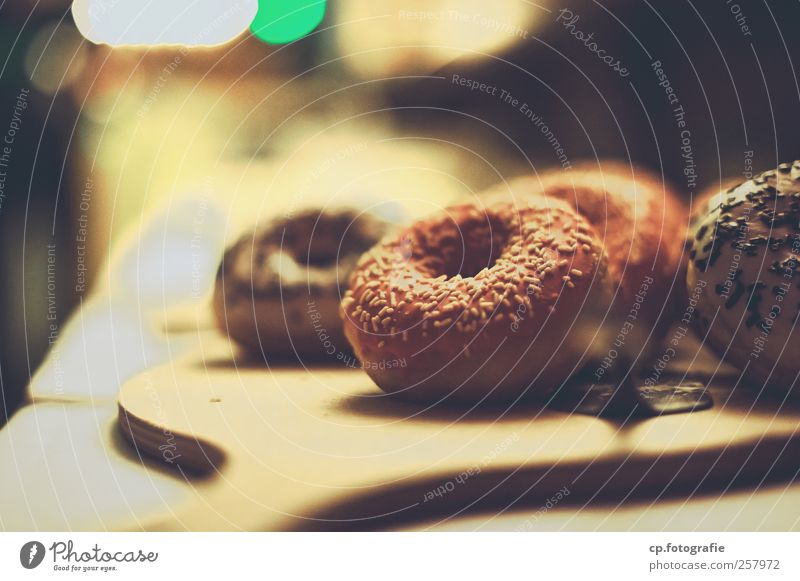 Sweet Dreams Food Dessert Candy Nutrition To have a coffee Donut Granules Artificial light Shallow depth of field