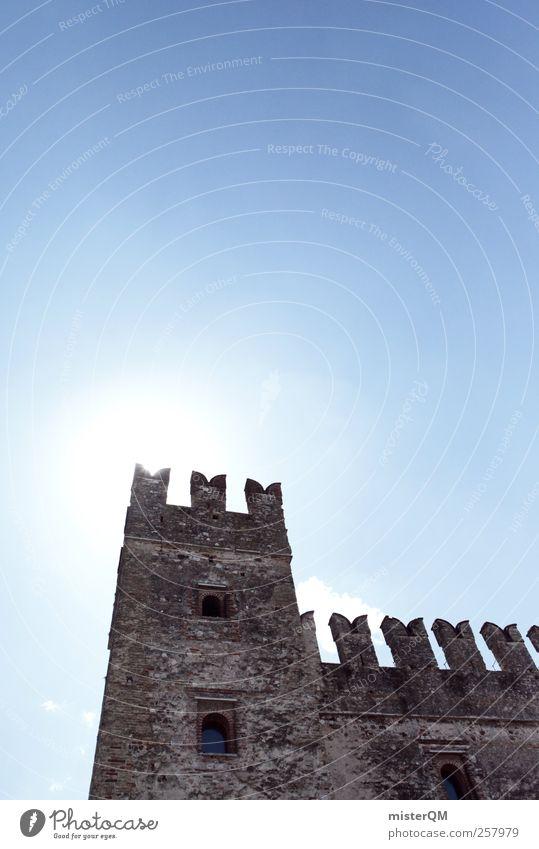 My Castle. Ruin Power Fortress Fastening Merlon Medieval times Lake Garda Tower Wall (barrier) Defensive Battlement Past Era Remainder Sky Castle tower