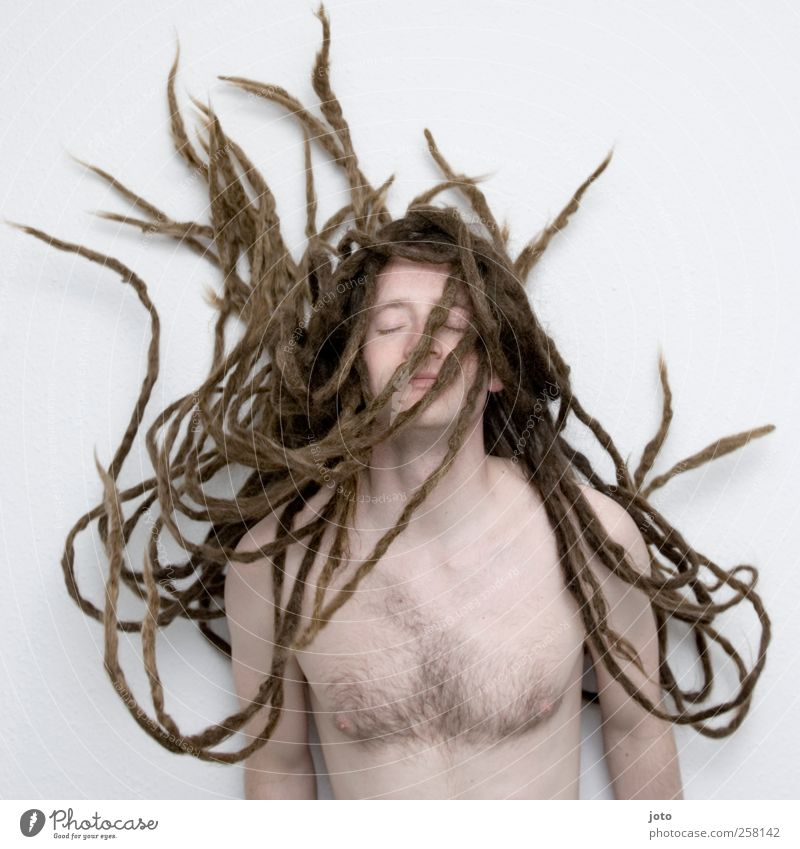 Medusa Masculine Young man Youth (Young adults) Hair and hairstyles Long-haired Dreadlocks Growth Esthetic Infinity Hip & trendy Uniqueness Rebellious Might