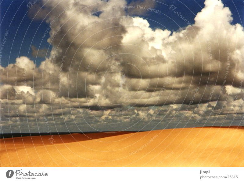 Beach Clouds Europe Beach dune Portugal Storm clouds Sandy beach Algarve