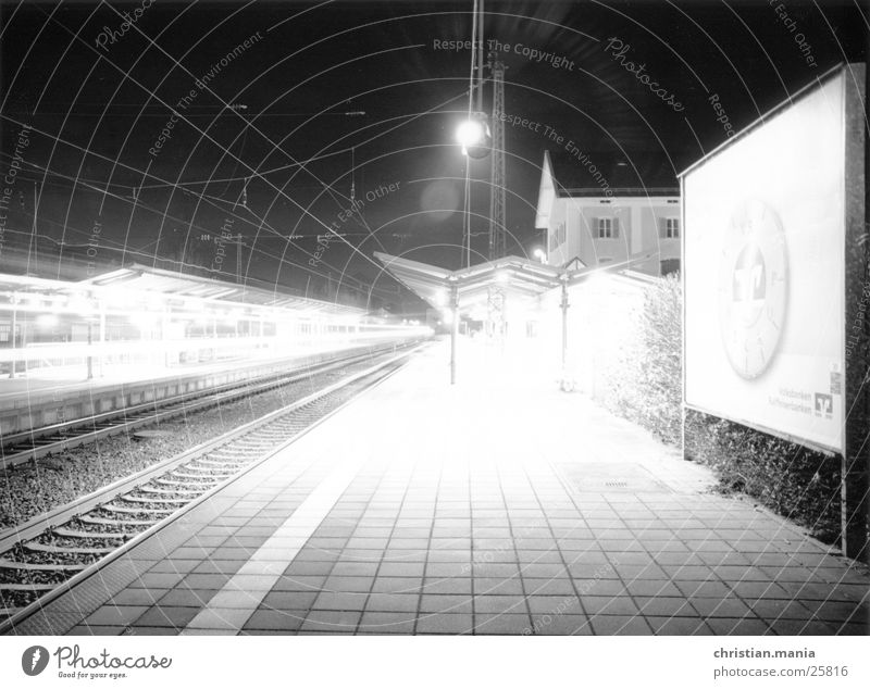 railway station Night Railroad Light Long exposure Transport Shadow Lighting