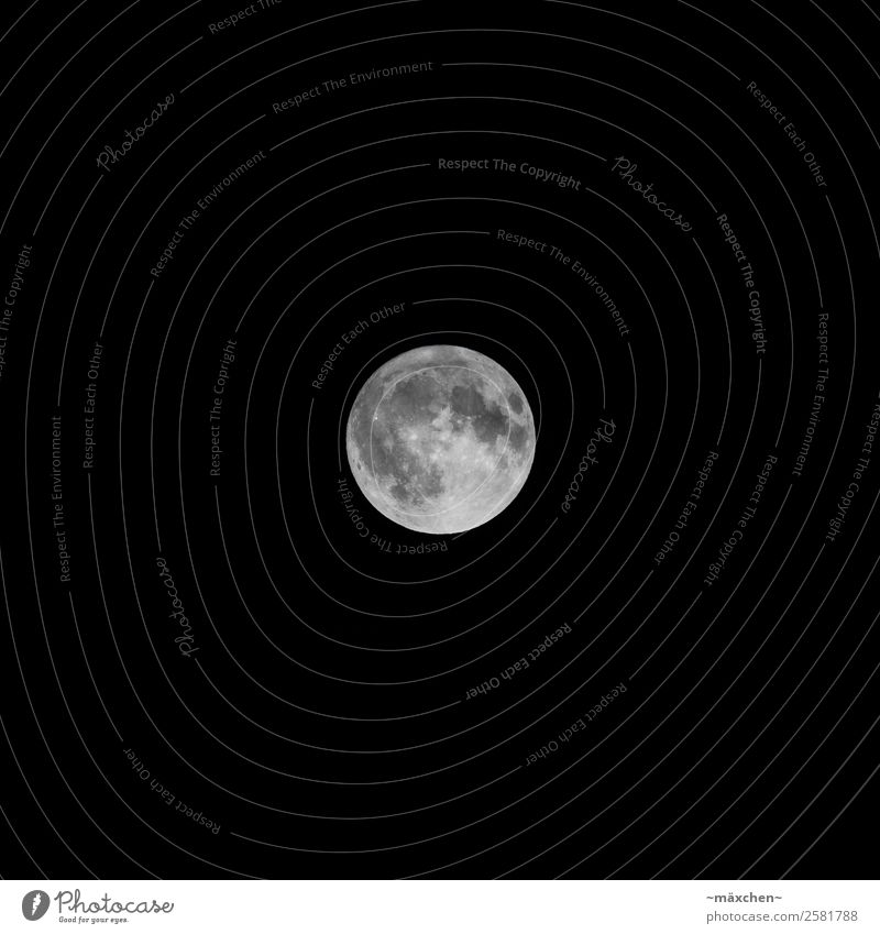full moon Night sky Moon Full  moon Bright Black White Far-off places Celestial bodies and the universe Dark Impressive migrating crater moon crater Contrast