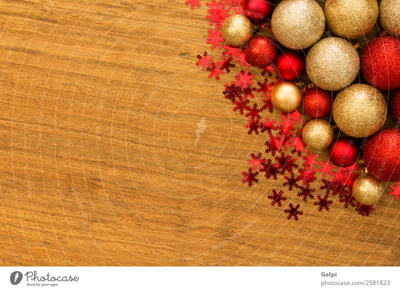 Christmas decoration Vacation & Travel Christmas & Advent Beautiful Colour Red Winter Wood Happy Small Feasts & Celebrations Copy Space Bright Decoration Gold