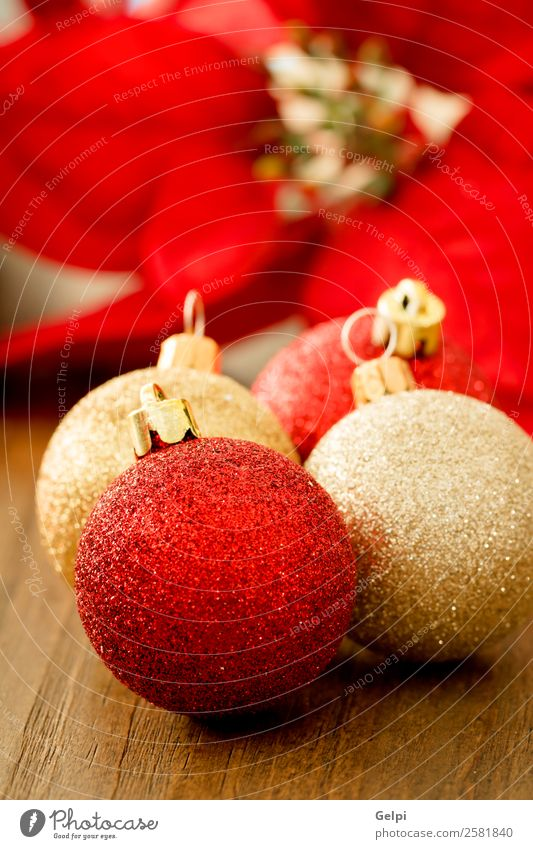 Christmas decoration Happy Beautiful Vacation & Travel Winter Decoration Feasts & Celebrations Christmas & Advent Flower Wood Ornament Bright Small New Gold Red