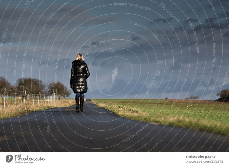Human being Youth (Young adults) Loneliness Calm Adults Far-off places Relaxation Freedom Movement Lanes & trails Field Going Future 18 - 30 years To go for a walk Target