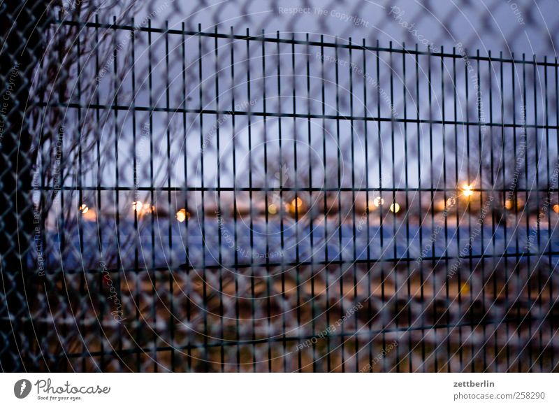 fences Winter House (Residential Structure) Environment Nature Landscape Sky Horizon Autumn Weather Small Town Outskirts Deserted Places Aggression Architecture