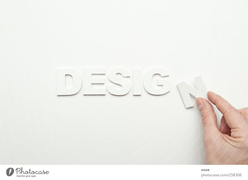 design Lifestyle Design Hand Fingers Characters Esthetic Simple Bright Clean White Letters (alphabet) Word Clarity Considerable Creativity Typography