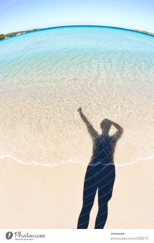 Human being Man Nature Water Vacation & Travel Sun Summer Ocean Beach Joy Adults Relaxation Freedom Sand Style Horizon