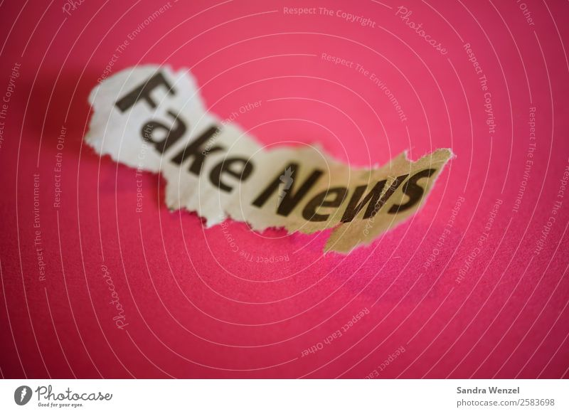 Fake News Media industry Characters Violet Force Hatred Reliability Print media Newspaper fakenews false reports Lie (Untruth) Politics and state Colour photo