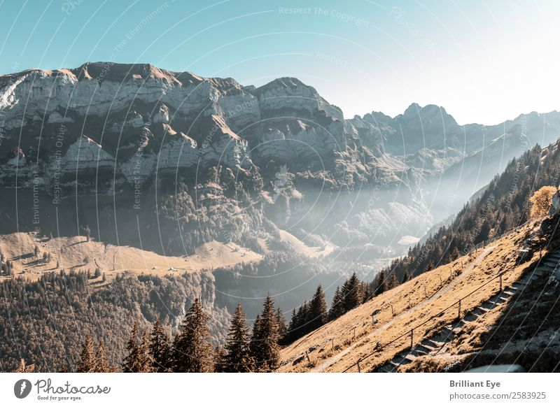 There will be evening in the Alpstein Vacation & Travel Tourism Mountain Hiking Environment Nature Landscape Autumn Fog Hill Peak Infinity Natural Above Warmth