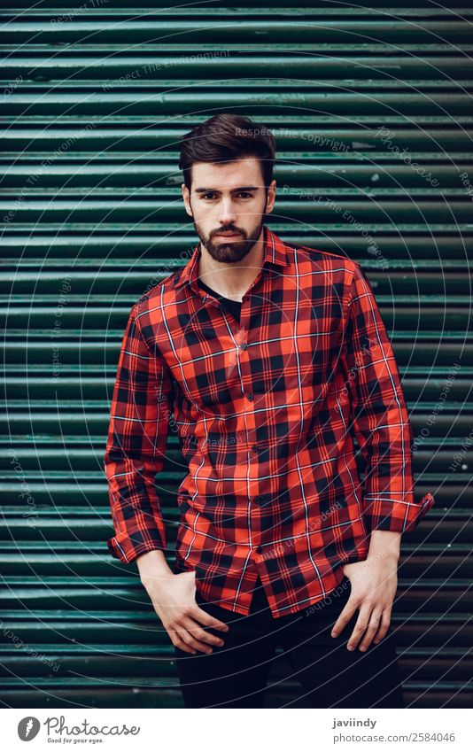 Young man in urban background wearing casual clothes Lifestyle Style Beautiful Hair and hairstyles Human being Masculine Youth (Young adults) Man Adults 1