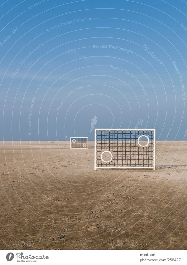 Beach Soccer, Borkum Leisure and hobbies Vacation & Travel Far-off places Island Sports Ball sports Beach soccer soccer wall Soccer Goal Football pitch Sand
