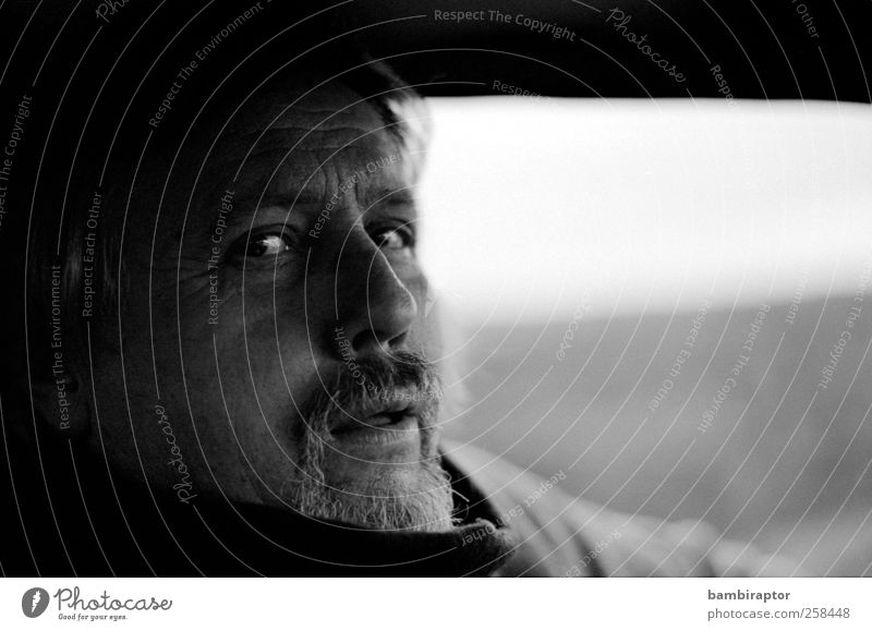 Human being Man Old Adults Eyes Masculine 45 - 60 years Father Facial hair Analog Portrait photograph