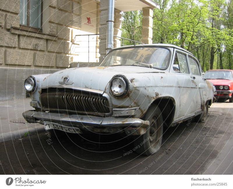 vintage car Vintage car Scrap metal Historic Car communism Quarter