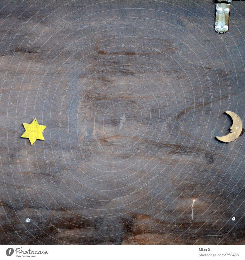Wood Contentment Stars Star (Symbol) Sign Moon Board Half moon
