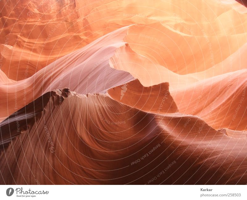 Sandy sharp stone Landscape Rock Canyon Waves Desert Antelope Canyon Touch Draw Dream Esthetic Exotic Gigantic Brown Yellow Red Power Beautiful Wisdom Energy